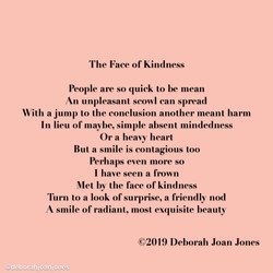 The Face of Kindness Deborah Joan Jones