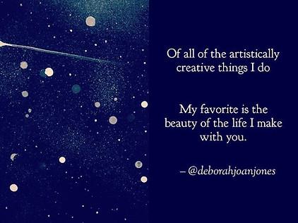 "'Creating Life', poem and artwork, 'Infinity"" by Deborah Joan Jones"