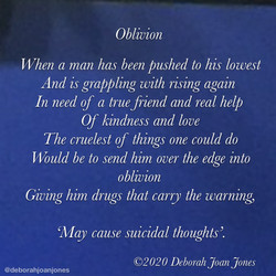 Oblivion Deborah Joan Jones