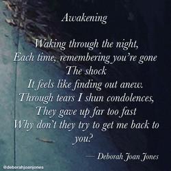 Awakening Deborah Joan Jones