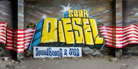 """Sour diesel"" wall for Snowgoons and NBS!"
