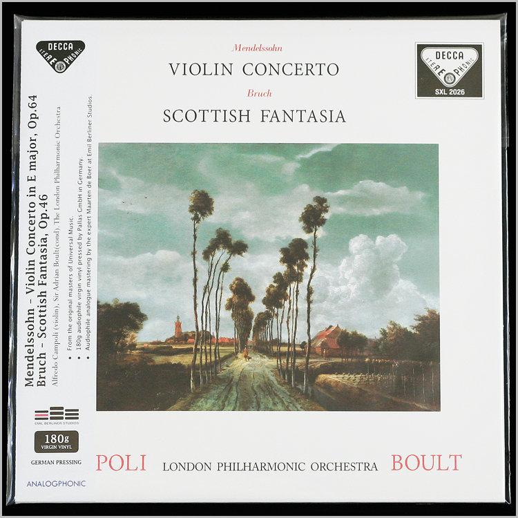 CAMPOLI, BOULT / Mendelssohn: Violin Concerto, Bruch: Scottish Fantasia