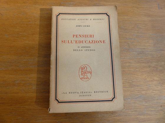 J. Locke - Pensieri sull'educazione - 1963