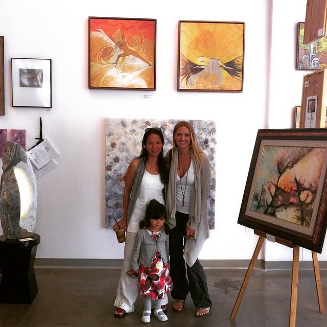 artlife gallery with yoga teacher wendy garafalo