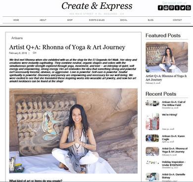 create and express, El Segundo, Ca. - local artist blog/article