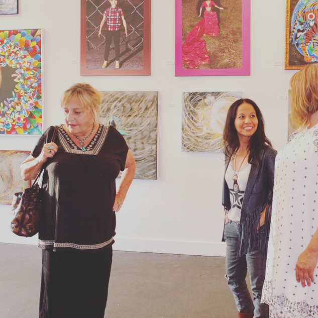 artlife gallery art opening with founder vanesa andrade