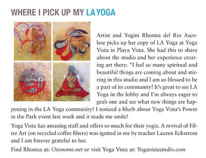 LA Yoga magazine mention