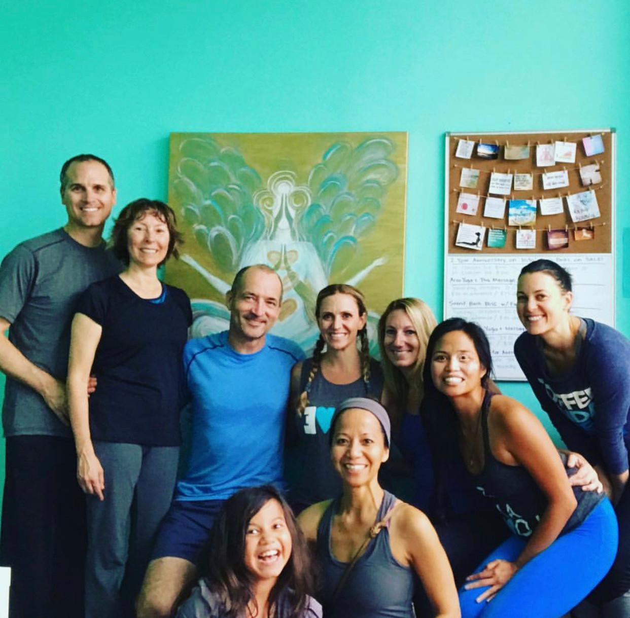yogi loves at yogabliss studio, westchester ca.
