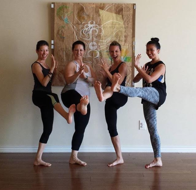 warrior yoga teachers, dana byerlee, jennifer winther, brittany rouse, denise marie antoine
