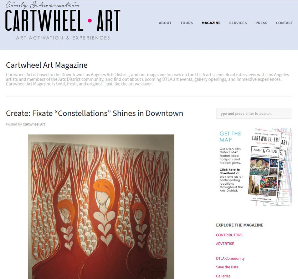 CARTWHEEL magazine, DTLA - article cover and mention