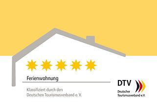 DTV-Kl_Schild_Ferienwohnung_5 Sterne-1.j