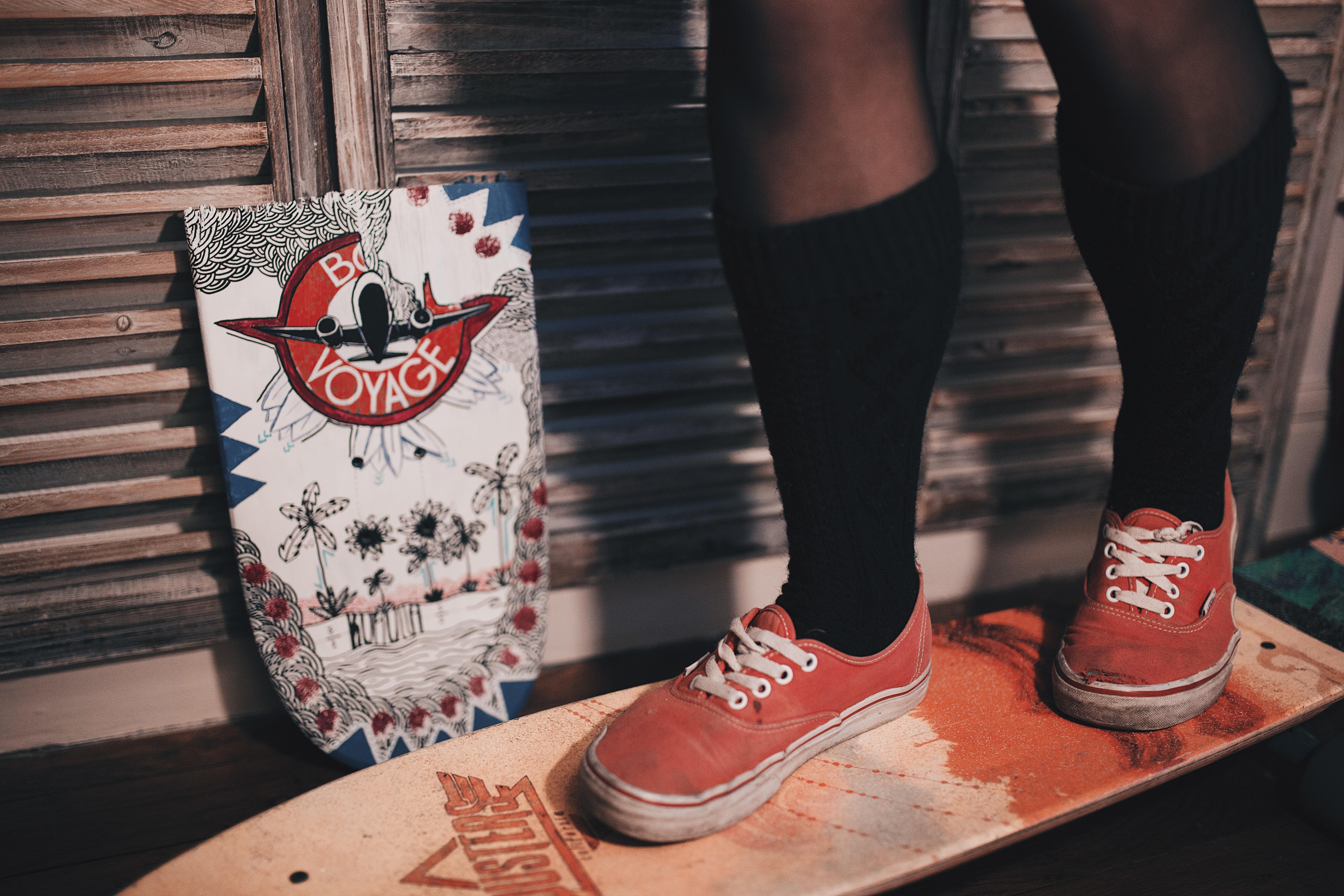 Skateboard handmade painting