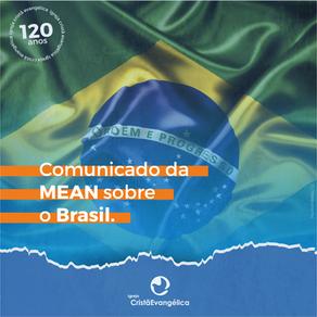 COMUNICADO DA MEAN EXECUTIVA SOBRE O BRASIL