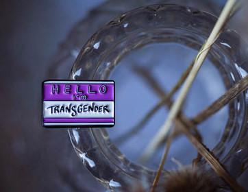 Transgender Name-tag Enamel Pin