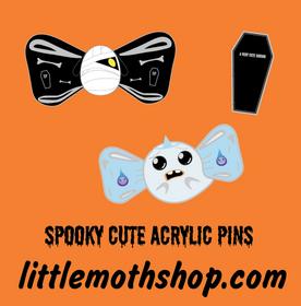 SPOOKY CUTE ACRYLIC PINS