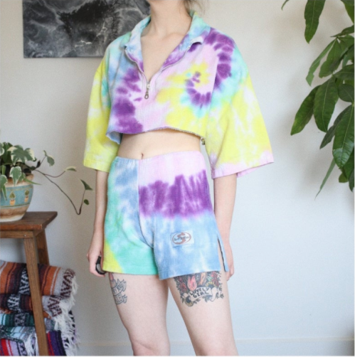 Tie Dye Two Piece Set - shirt & shorts