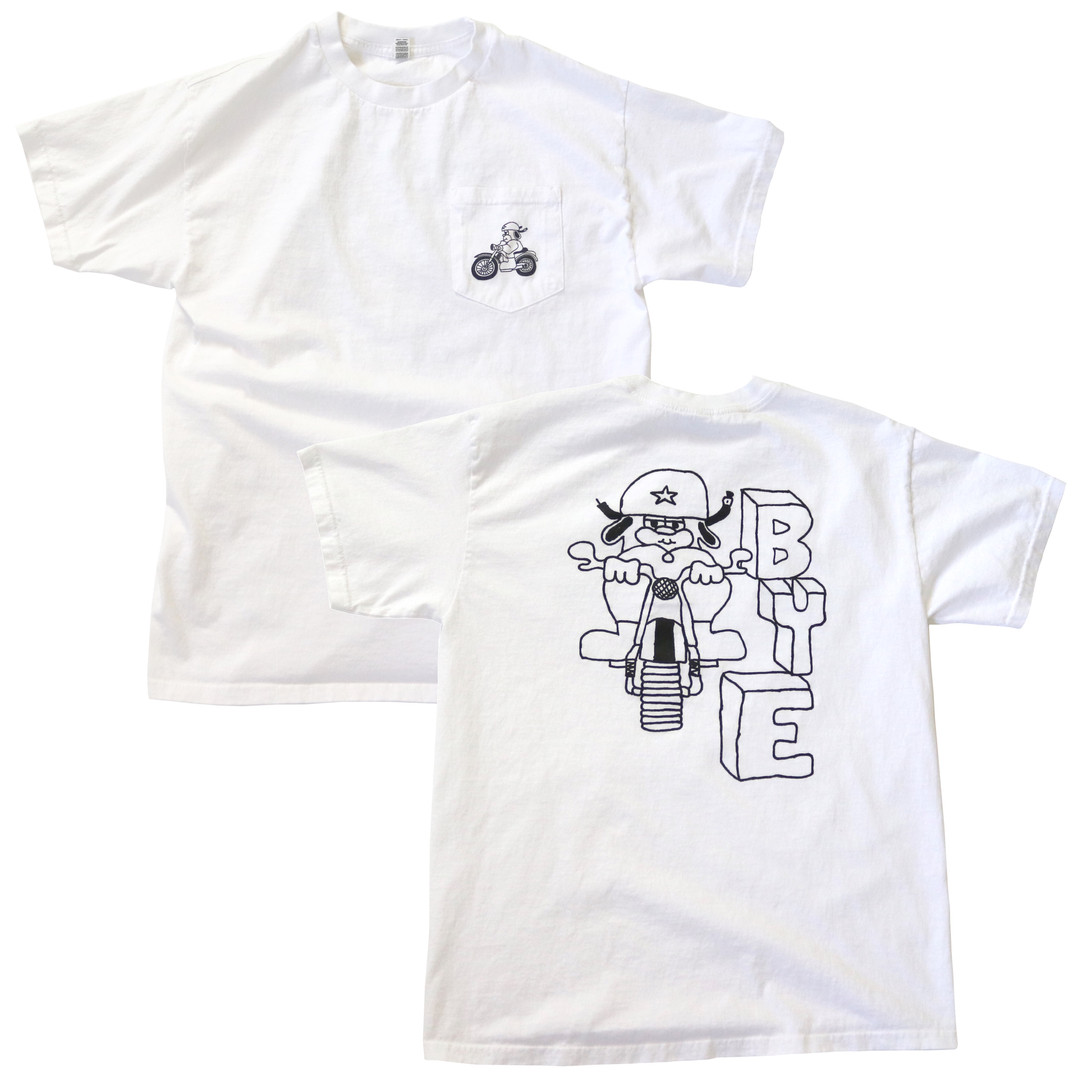 Bye Pocket T-Shirt Screen Printed