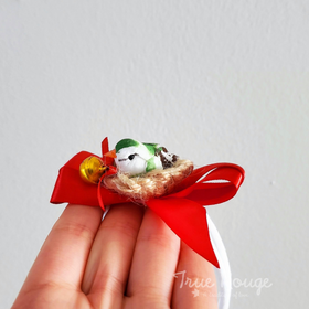 Nature-inspired itty-bitty Bird in nest (One size fits most) Christmas Photo Prop Headband