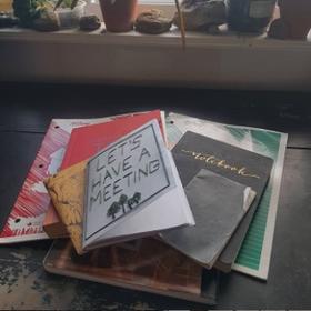 Notebooks - handmade & thrifted!