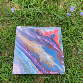 """(Blue/pink galaxy looking one), 14x14"""""""