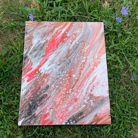 "(Pink/white/grey painting), 16x20"""
