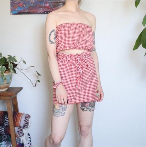 Tube Top Set - Top, skirt, scrunchie