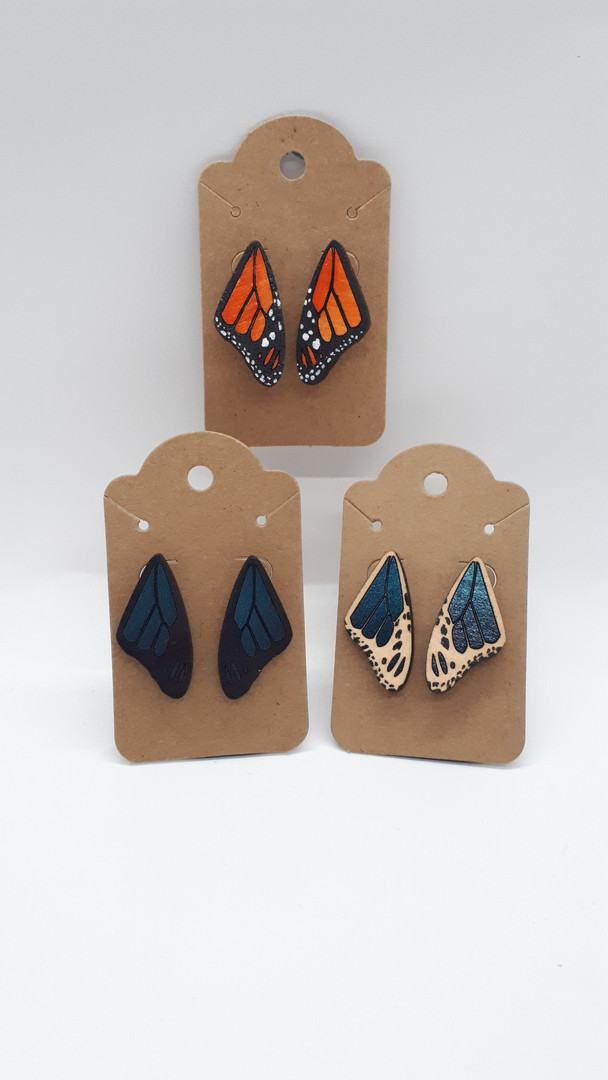 Monarch Wing Studs