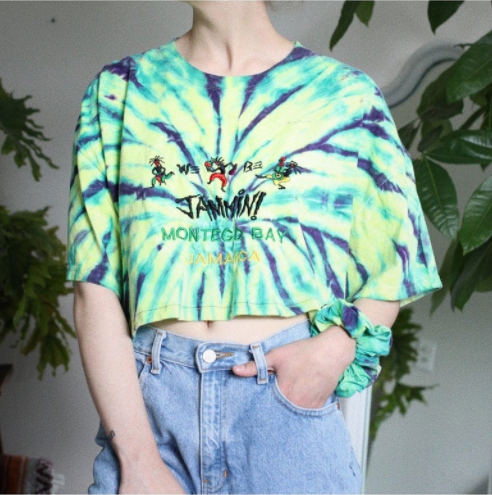 Tie Dye Crop and Scrunchie Set