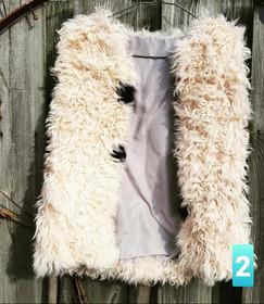 Vintage Mongolian Fur Hippie Vest