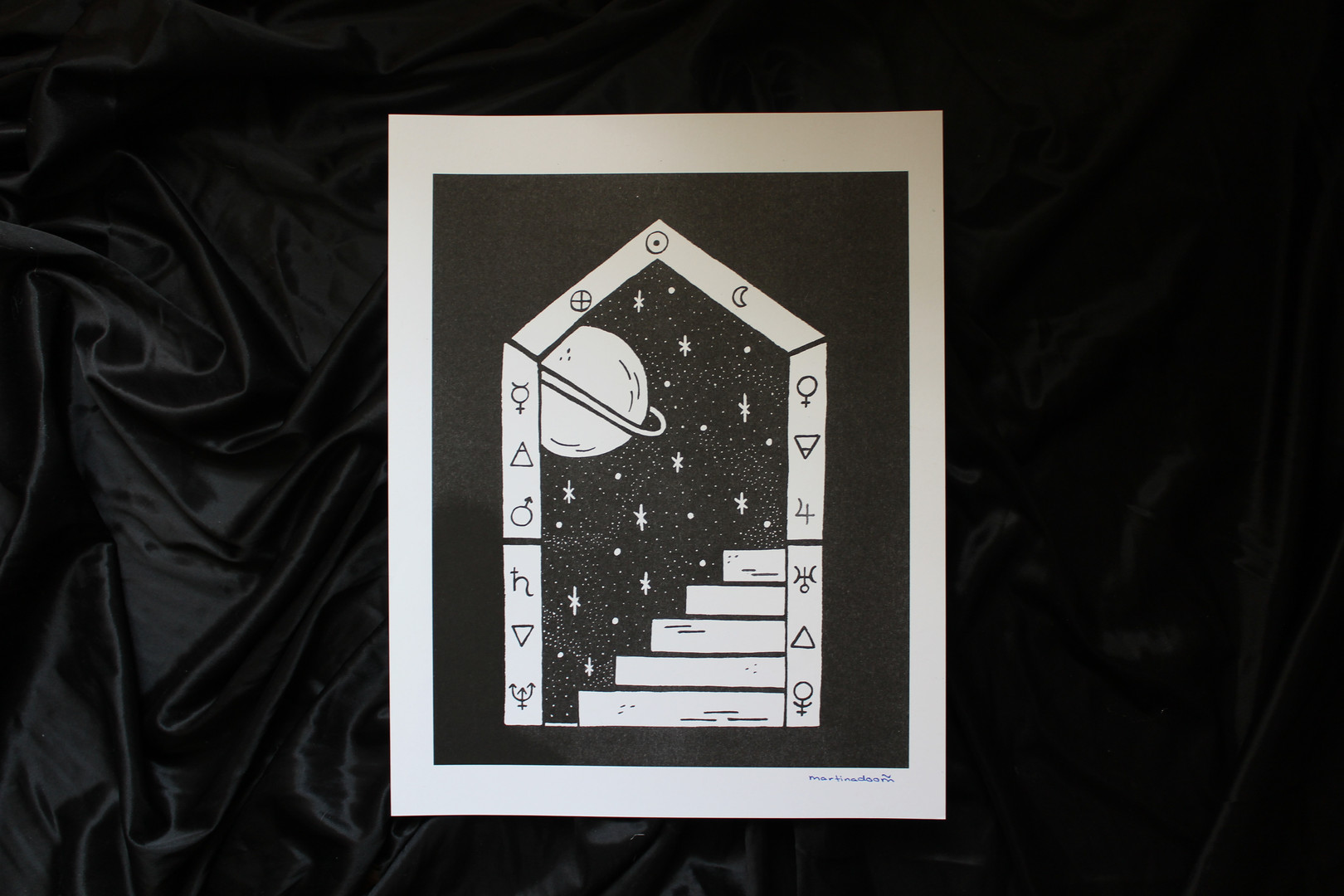 portal print, 9.5' x 12'