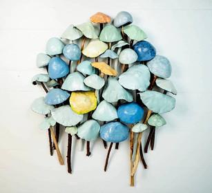 Clay and Wood Mushrooms