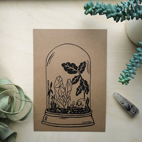 terrarium print, 6' x 8.5'