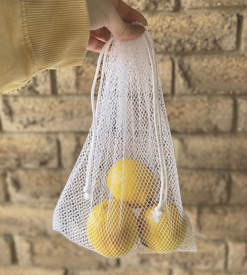 Drawstring grocery bag