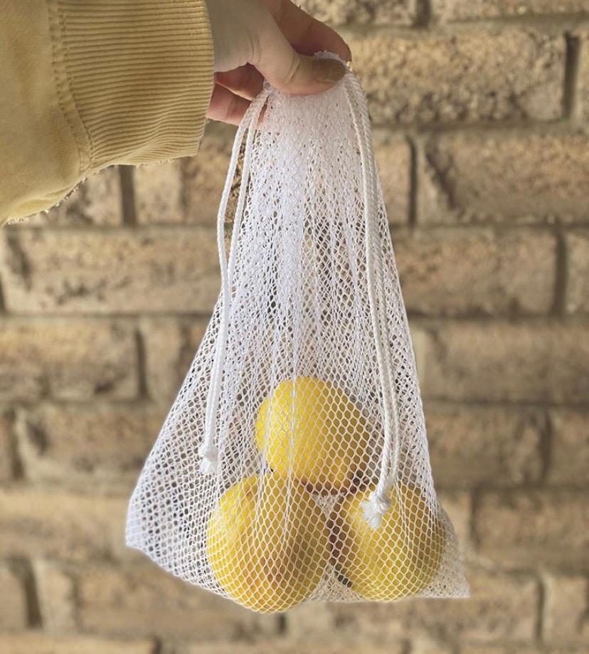Drawstring grocery bag