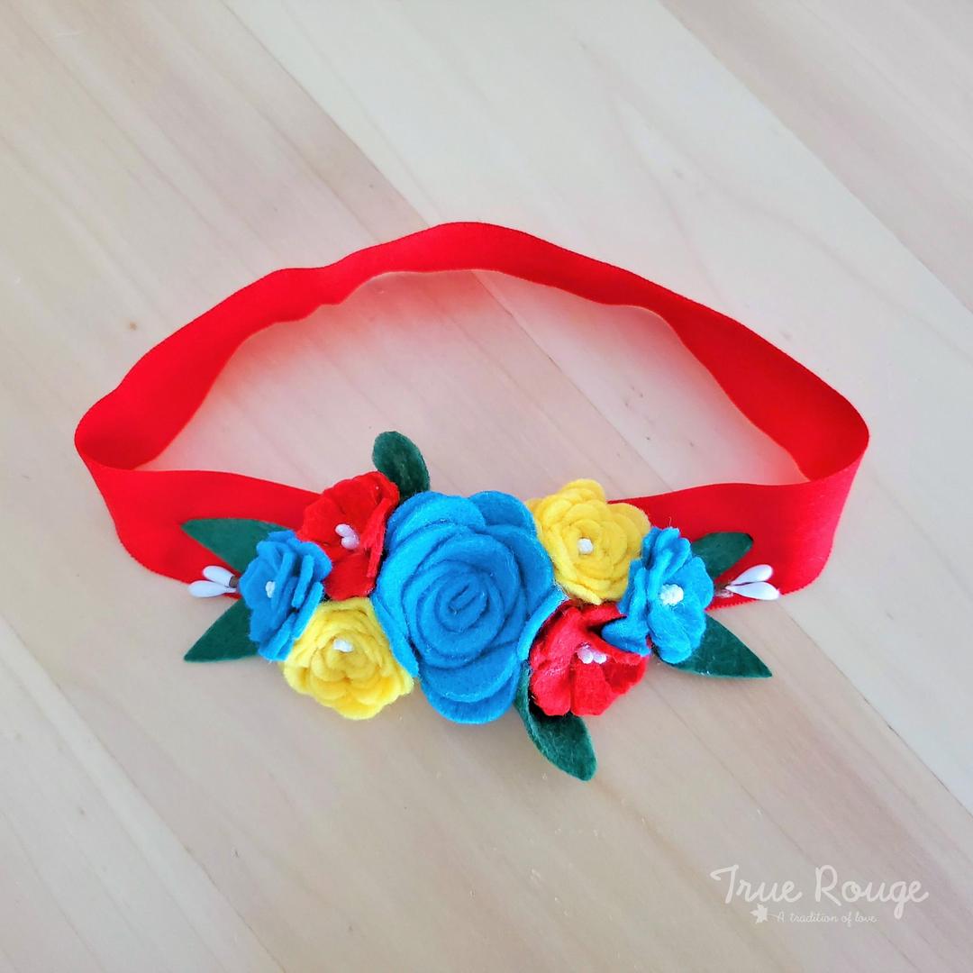Cheerful Felt Flower Headband