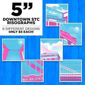 5″ Individual Downtown STC Risographs