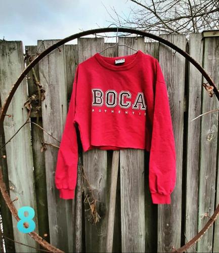 Vintage BOCA cropped pullover sweatshirt