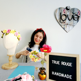Hi! I'm Mary Joe, the artisan behind True Rouge.