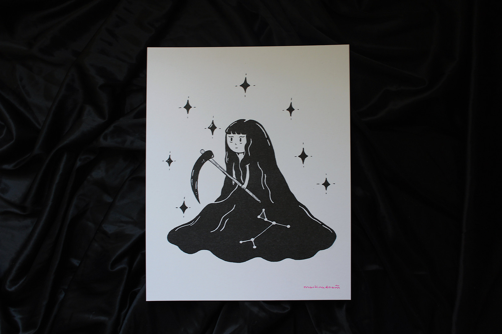 reaper print, 8' x 10'