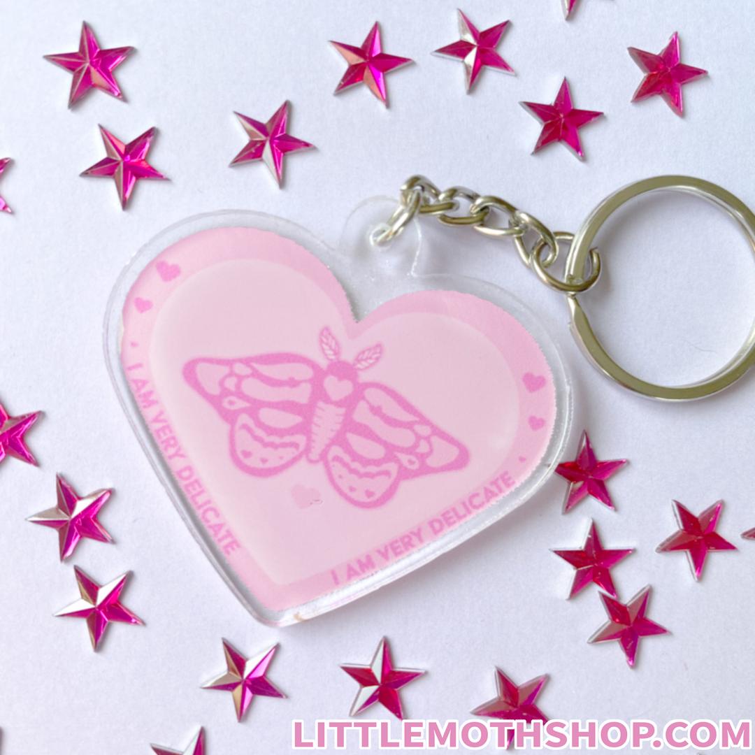 Delicate Moth Keychain
