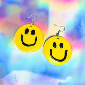 jumbo smiley earrings