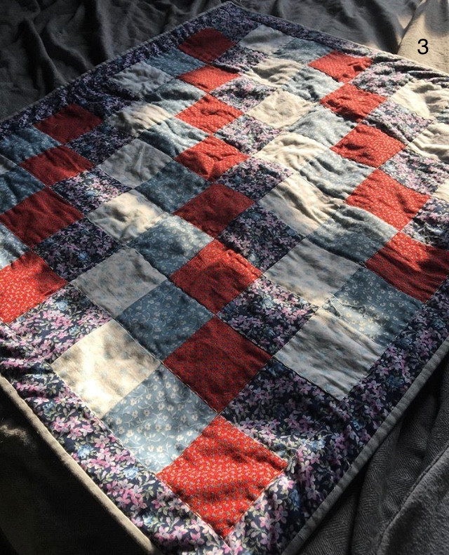 Baby Quilt with hand stitching