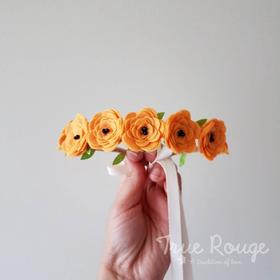 Fall Pumpkin Felt Flower Crown