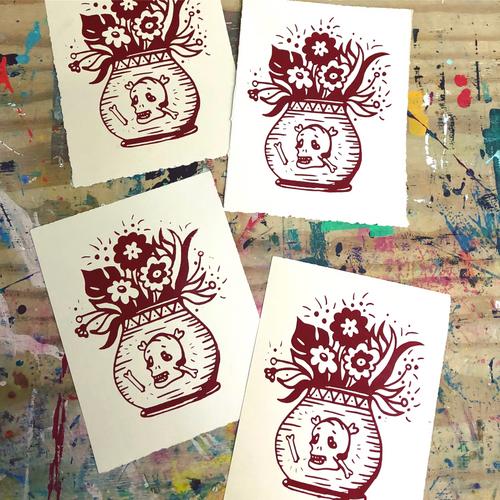 """Dead Flowers"" Print, 8""x10"""