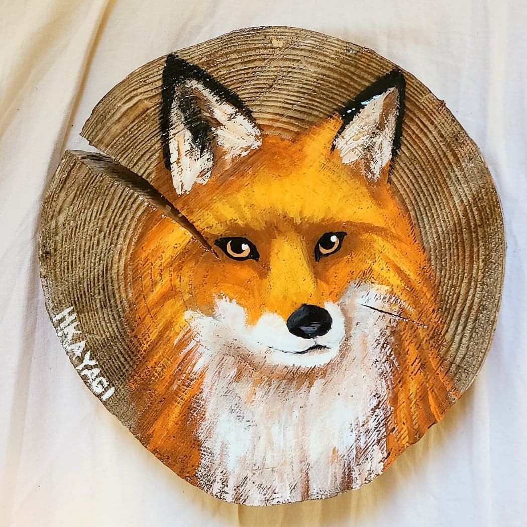 "Fox On Pine, 8"""