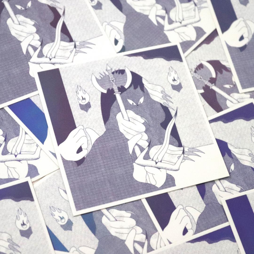 """Dungeon Holographic Sticker, 3""""x3"""""""