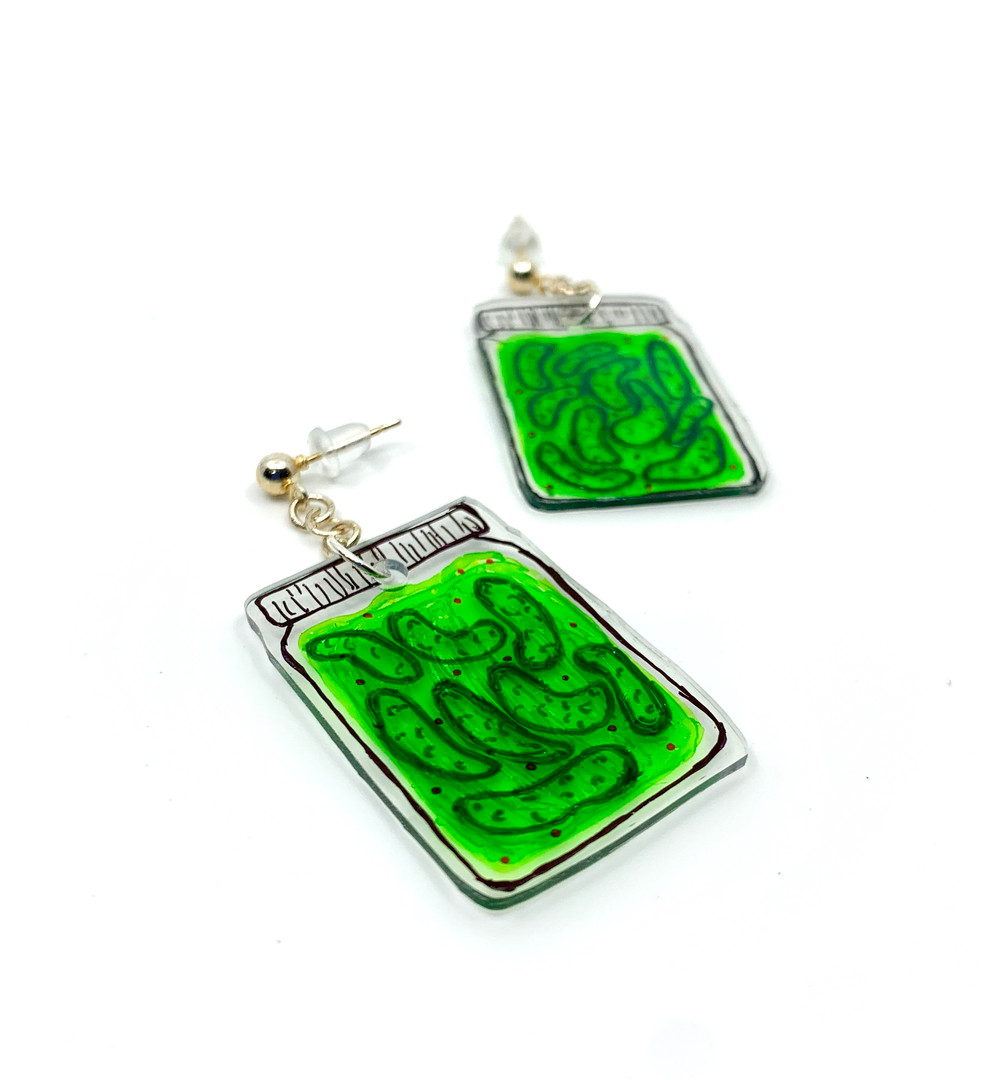 Pickle Jar Earrings