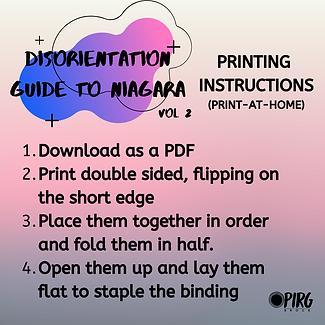 PRINTING INSTRUCTIONS - The DisOrientati