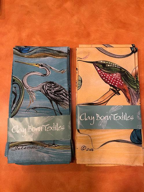 Clay Born textiles/napkins