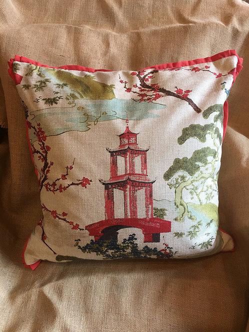 Signature Fabric Pagoda Pillow